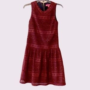 BETSEY JOHNSON CROCHET KNIT LACE DRESS